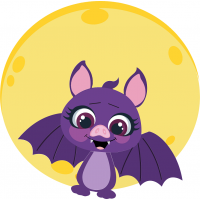 Halloween Bat And The Moon Cuttable SVG and Printable PNG File
