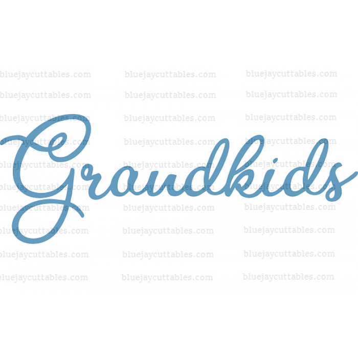 Cursive Word Grandkids Cuttable SVG and Printable PNG File