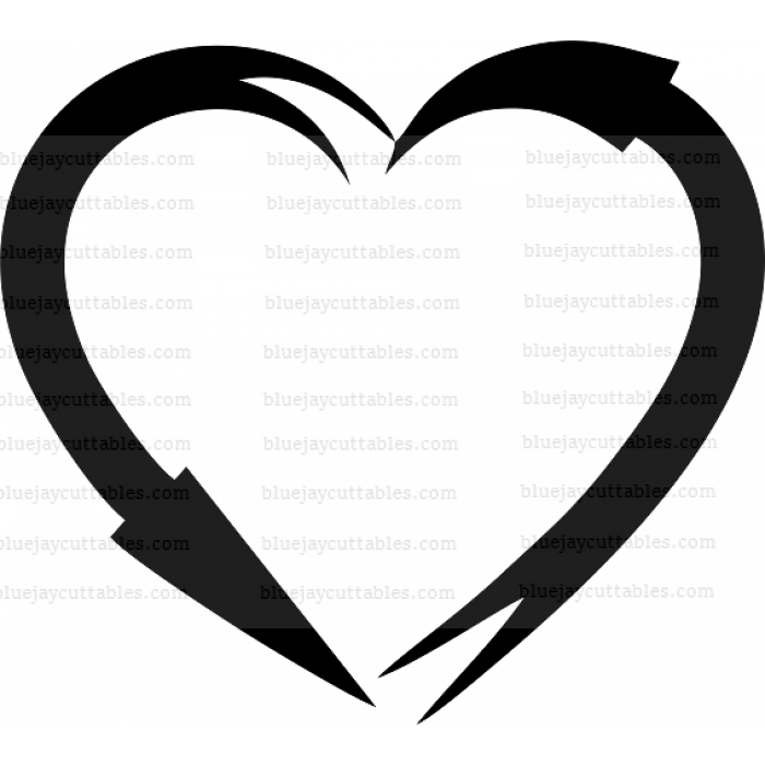 Heart Fishing Hooks Cuttable SVG and Printable PNG File