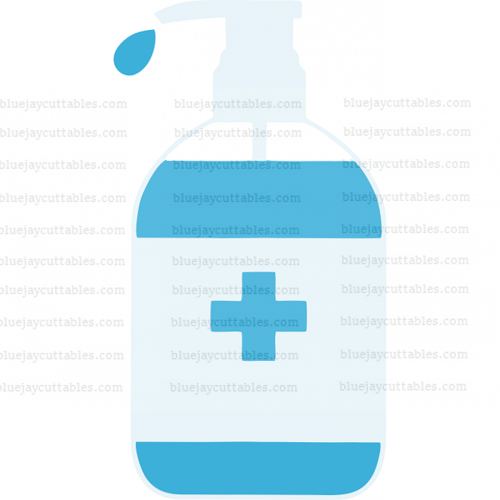 Sanitizing Bottle Medical Cuttable SVG and Printable PNG File