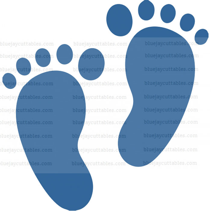 Feet Cuttable SVG and Printable PNG File