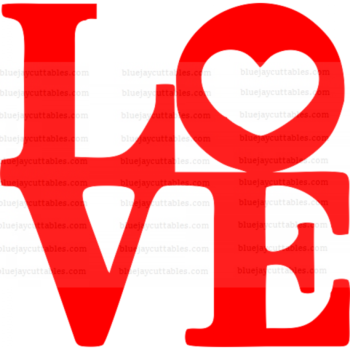 LOVE Heart Cuttable SVG and Printable PNG File