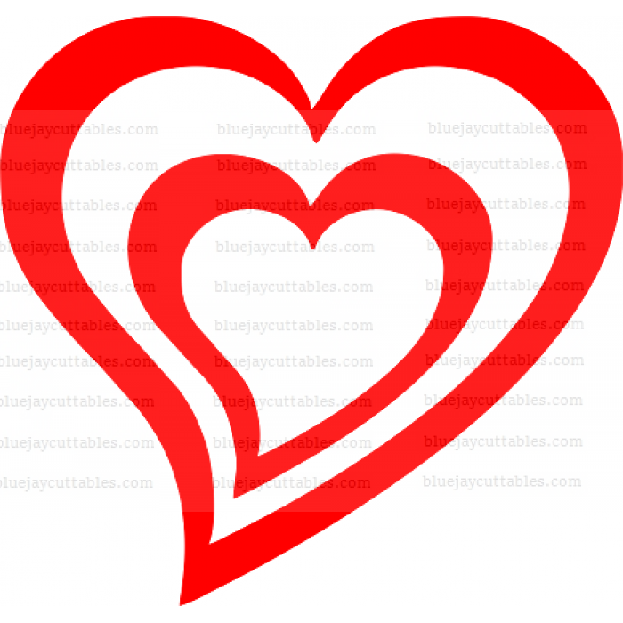 Two Heart Together Cuttable SVG and Printable PNG File