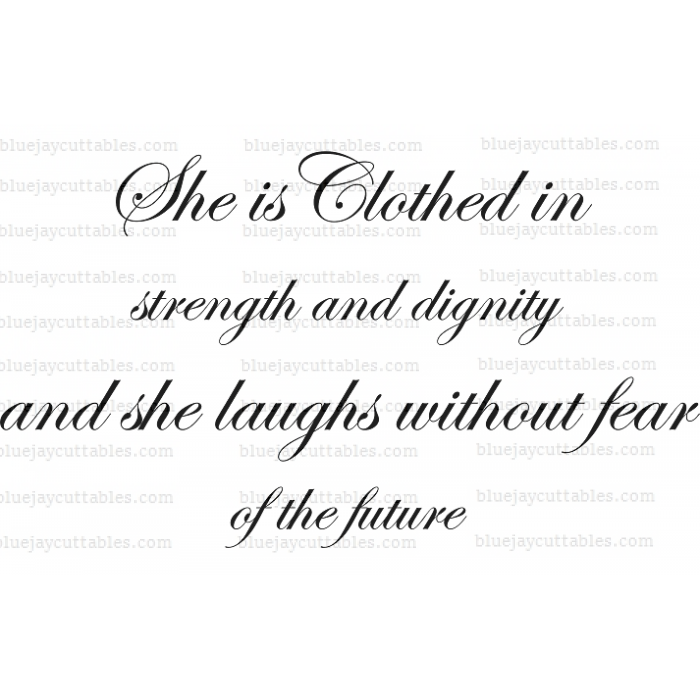 14+ She Is Clothed In Strength And Dignity – Svg File Image