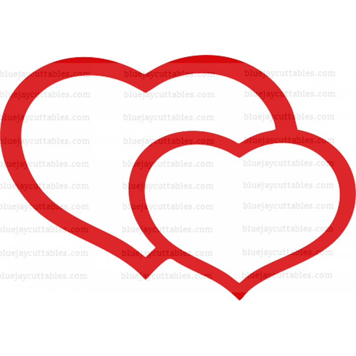 Big Heart And Little Heart Cuttable SVG and Printable PNG File