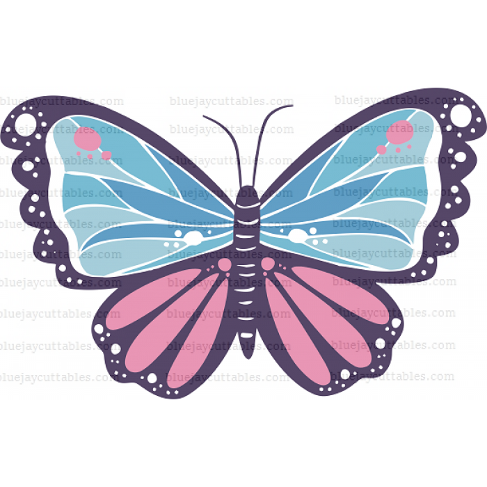 Fancy Butterfly Cuttable SVG and Printable PNG File