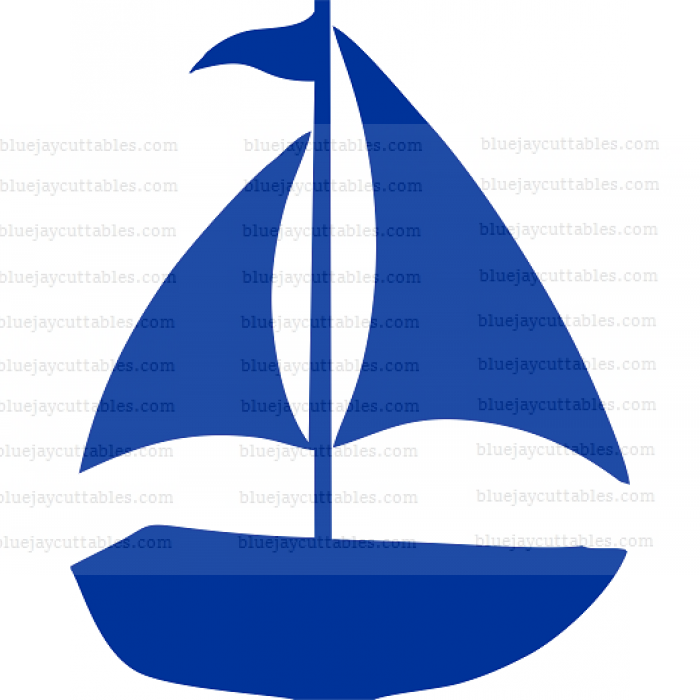 Sail Boat Cuttable SVG and Printable PNG File