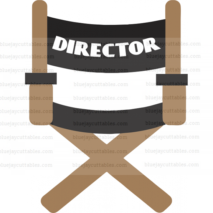 Director's Chair Movies or Cincema Cuttable SVG and Printable PNG File