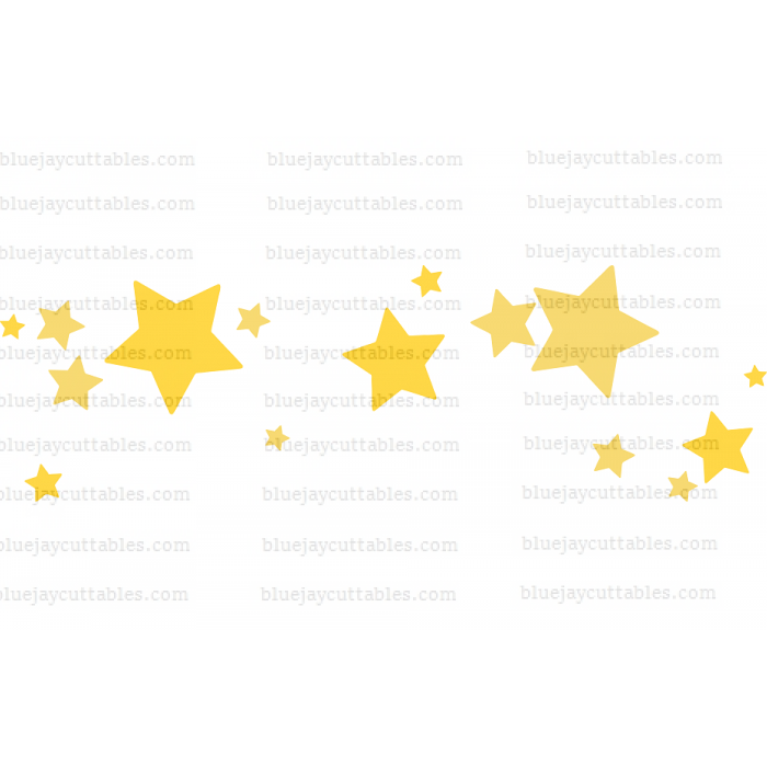 Many Stars Cuttable SVG and Printable PNG File