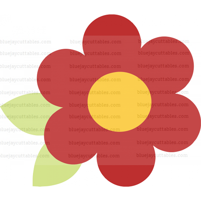 Big Red Flower Cuttable SVG and Printable PNG File