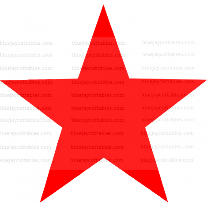 Red Star Cuttable SVG and Printable PNG File
