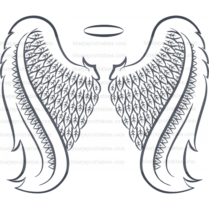 Angel Wings Cuttable SVG and Printable PNG File