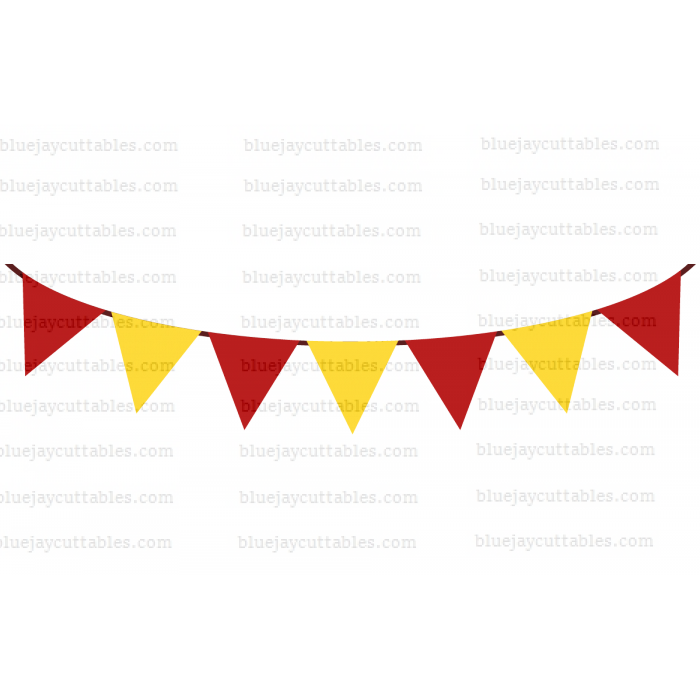 Birthday Flags Cuttable SVG and Printable PNG File