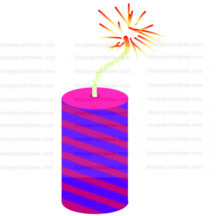 Firecracker Cuttable SVG and Printable PNG File