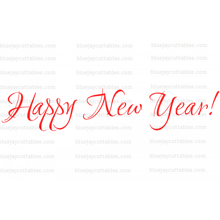 Happy New Year Cuttable SVG and Printable PNG File