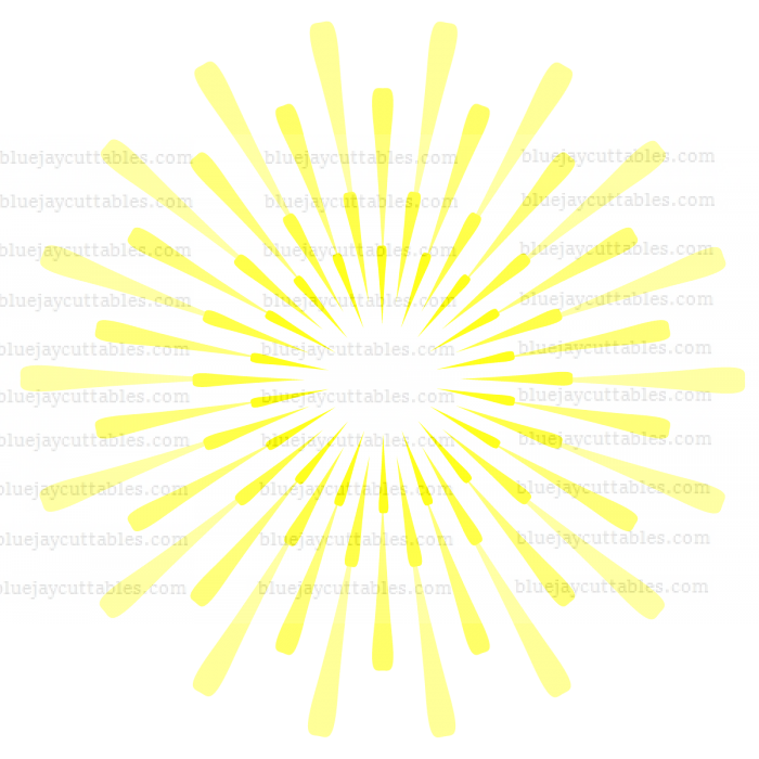 Huge Fireworks Cuttable SVG and Printable PNG File