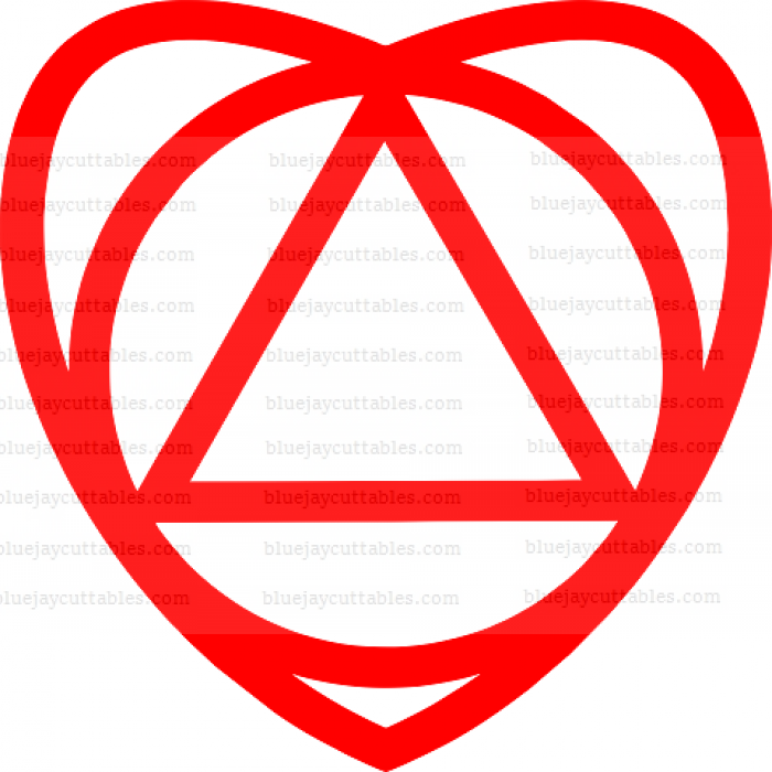 Two Heart And Triangle Cuttable SVG and Printable PNG File