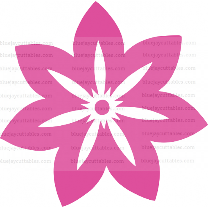 Flower Cuttable SVG and Printable PNG File