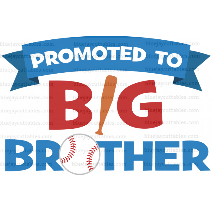 Promoted To Big Brother Baseball Sports Cuttable SVG and Printable PNG File