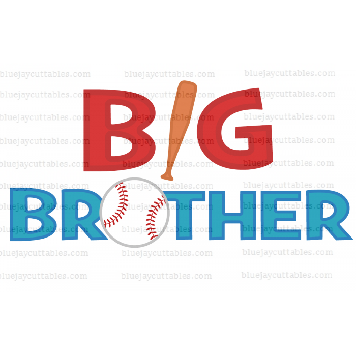 Big Brother Baseball Sports Cuttable SVG and Printable PNG File