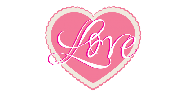 Download Love Pink Heart Cuttable SVG and Printable PNG File