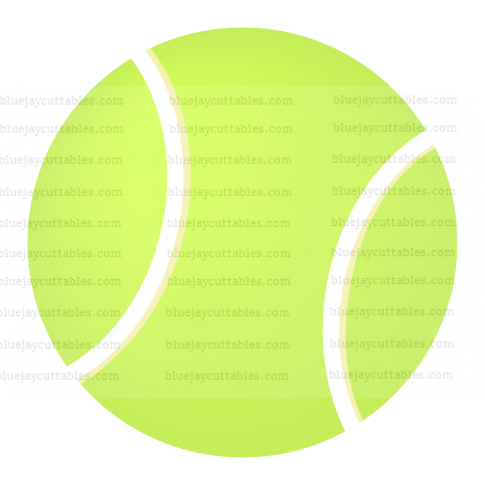 Tennis Ball Sports Cuttable SVG and Printable PNG File