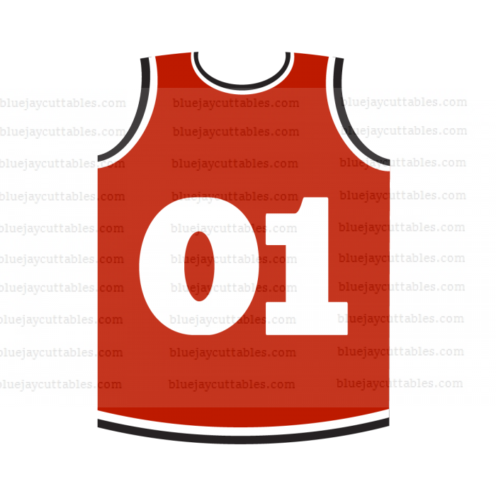 Basketball Jersey Sports Cuttable SVG and Printable PNG File