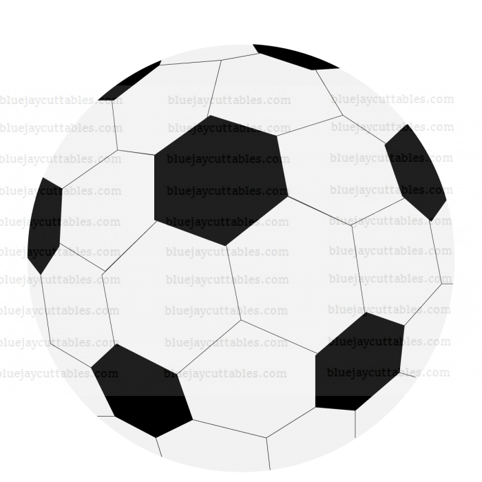 Soccer Ball Sports Cuttable SVG and Printable PNG File