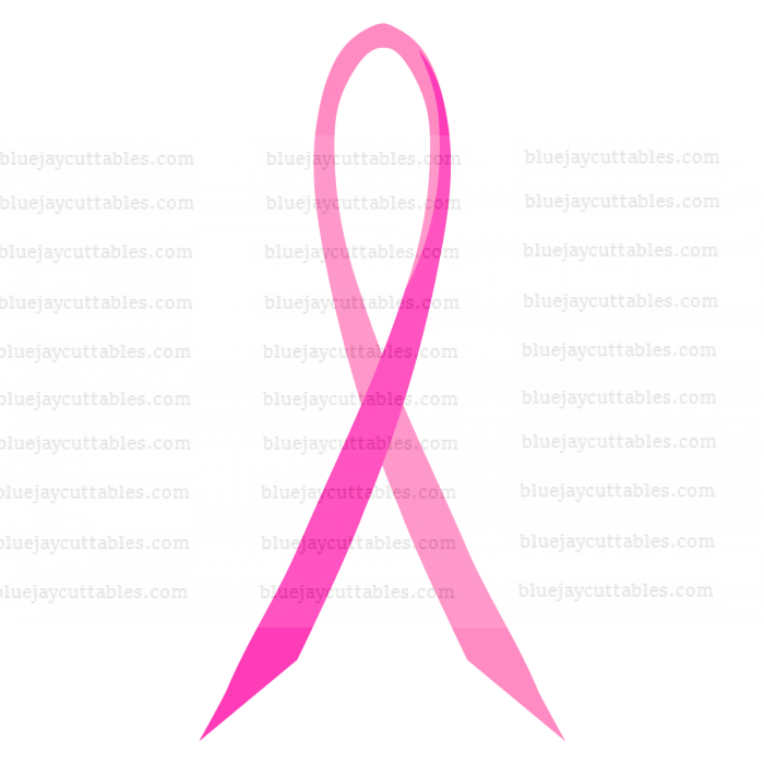 Thin Breast Cancer Awareness Ribbon Cuttable SVG and Printable PNG File