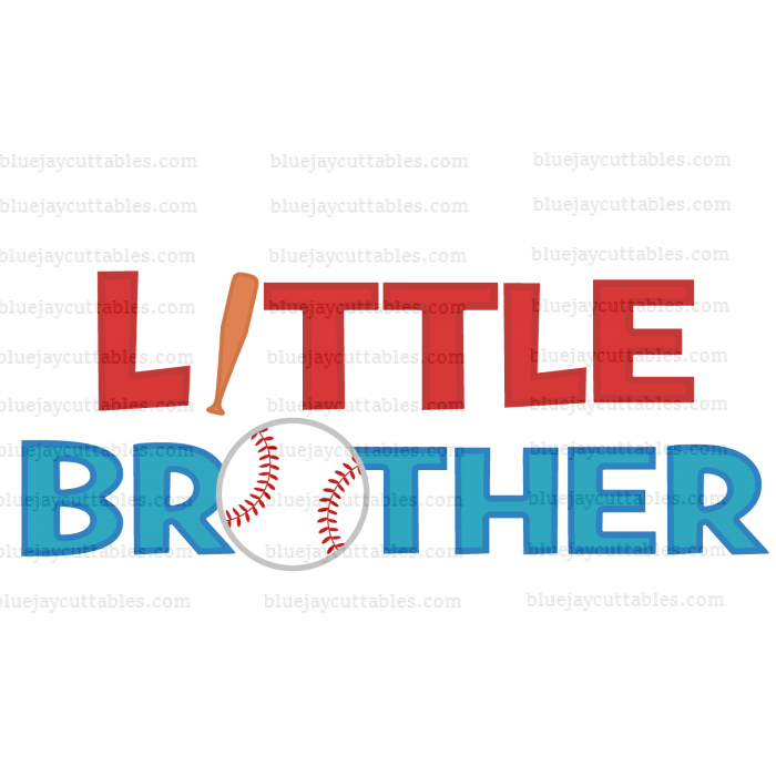Little Brother Baseball Sports Cuttable SVG and Printable PNG File