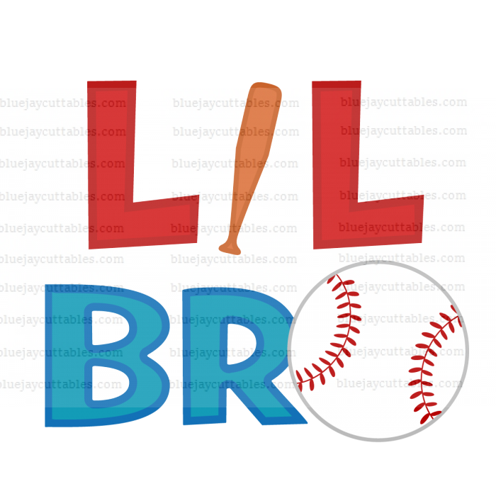 Lil Bro Baseball Sports Cuttable SVG and Printable PNG File