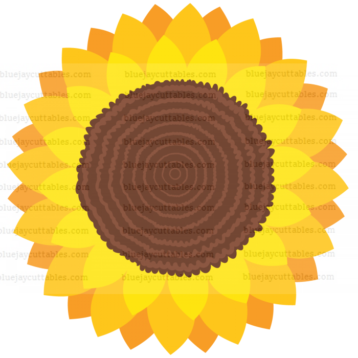 Big Sunflower Cuttable SVG and Printable PNG File