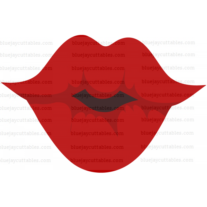 Kissing Lips Valentines Cuttable SVG and Printable PNG File