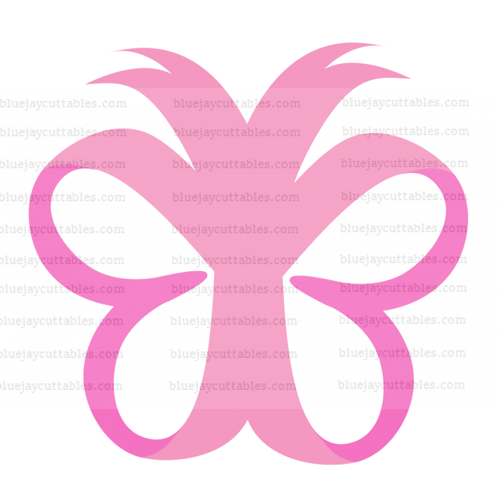 Butterfly Looks Like Ribbons Breast Cancer Awareness Cuttable SVG and Printable PNG File