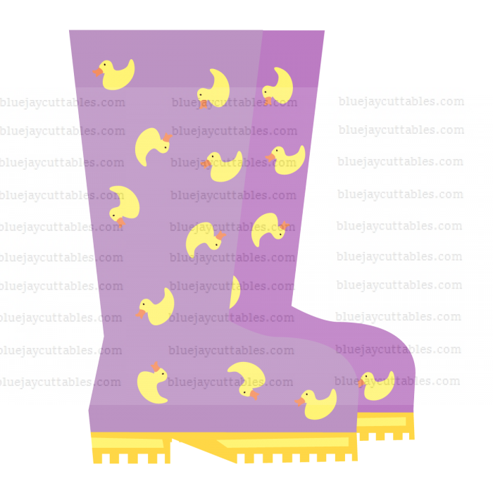 Purple Rainbow Boots Cuttable SVG and Printable PNG File