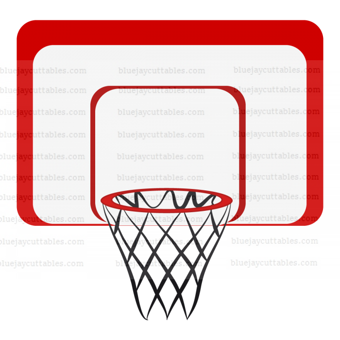 Basketball Hoop Sports Cuttable SVG and Printable PNG File