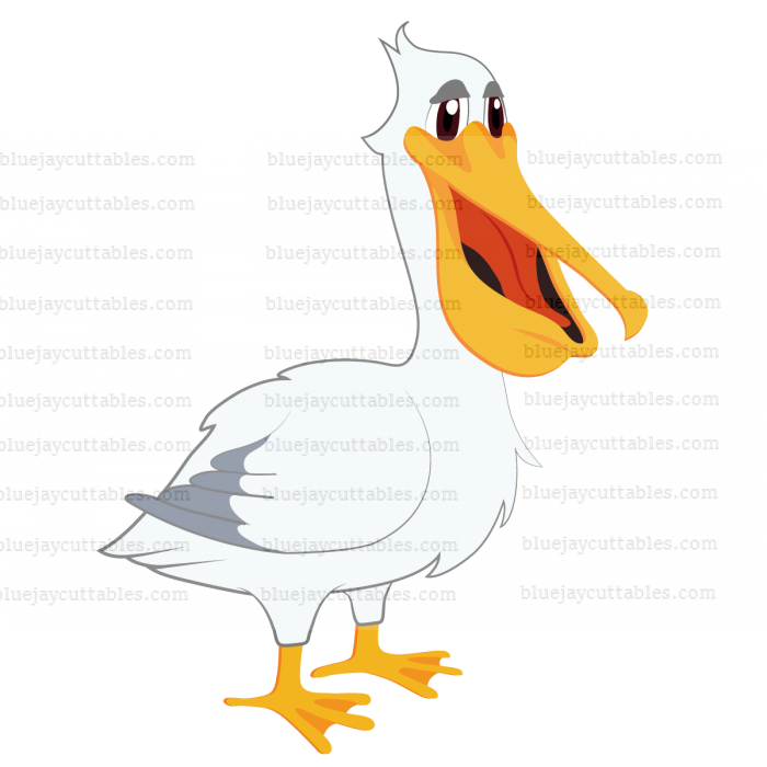 Pelican Cuttable SVG and Printable PNG File